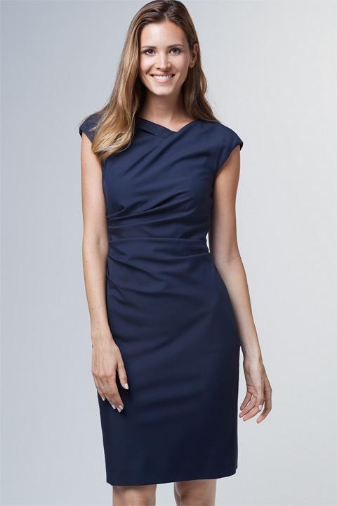 Drapé-Kleid in Navy