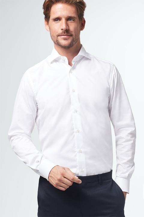 Twill-Hemd Trivo in Weiß