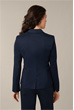 Baumwollstretch-Blazer in Navy