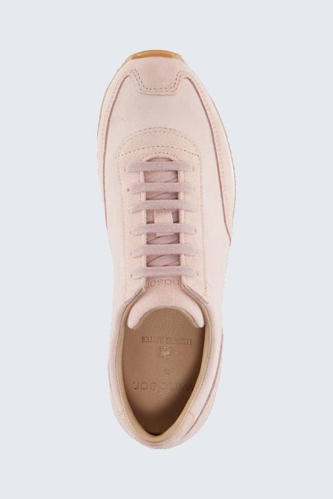 Sneaker aus Veloursleder by Ludwig Reiter in Rosé