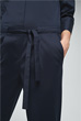 Baumwollstretch-Overall in Navy