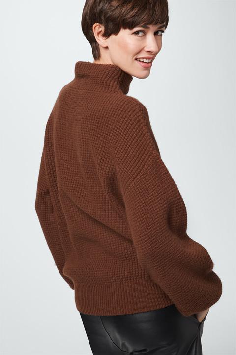 Kaschmir-Pullover in Kupfer