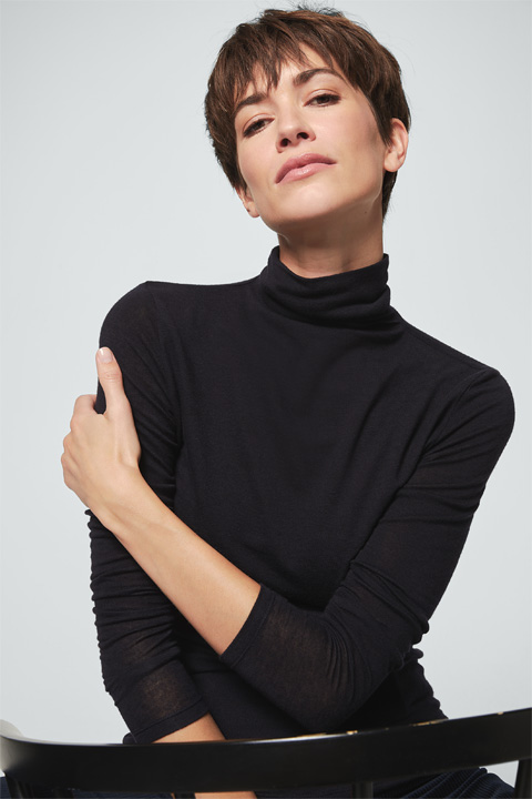 Turtleneck-Pullover in Navy