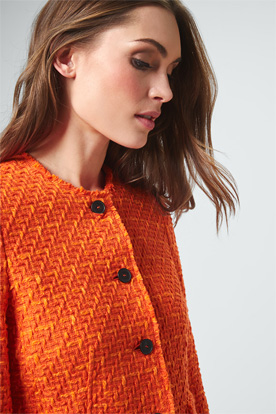 Bouclé-Blazer in Orange