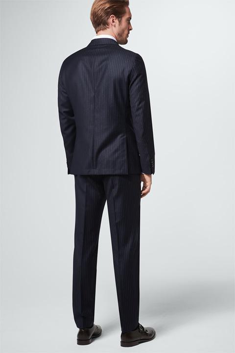 Nadelstreifen-Anzug Sorino-Sori in Navy
