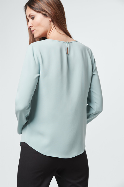 Crêpe-Bluse in Mint