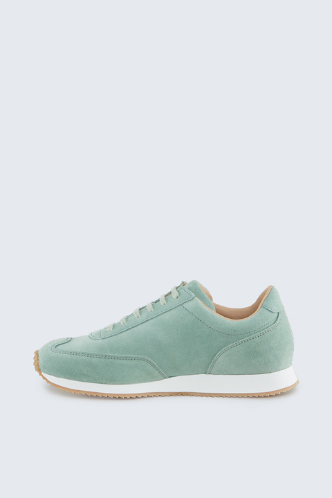 Sneaker aus Veloursleder by Ludwig Reiter in Mint