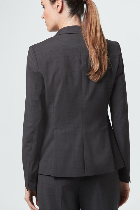 Business-Blazer in Graphit gemustert