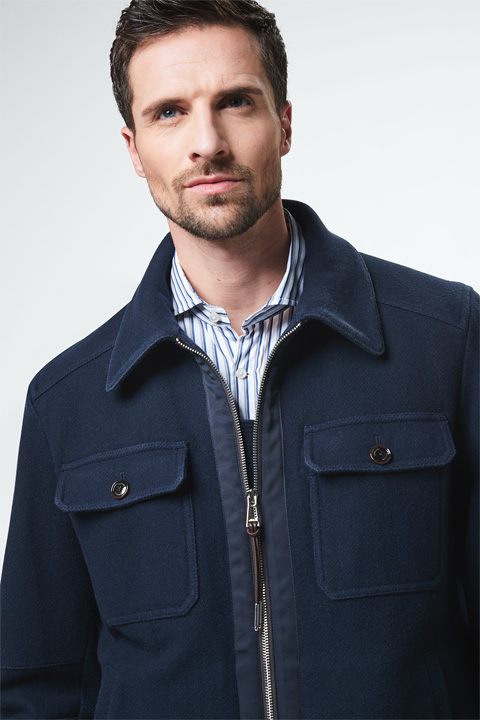 Wolljacke Ponso in Navy