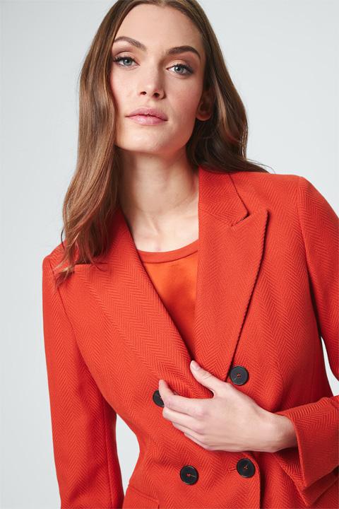 Doppelreiher-Blazer in Orange