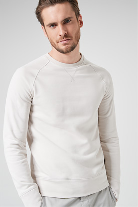 Sweat-Pullover Elio in Creme-Weiss
