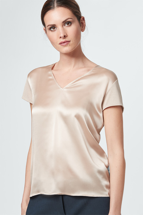 Blusen-Shirt in Beige