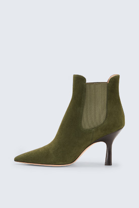 Ankle Boot by Unützer in Moosgrün