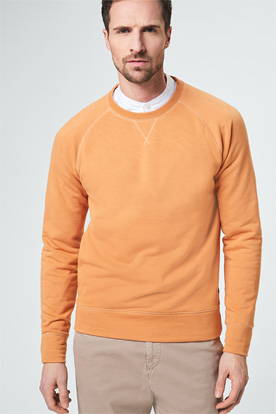 Rundhals-Sweatshirt Nicolo Orange
