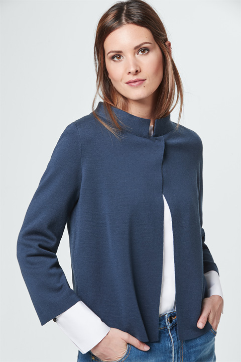 Strick-Cardigan in Blau