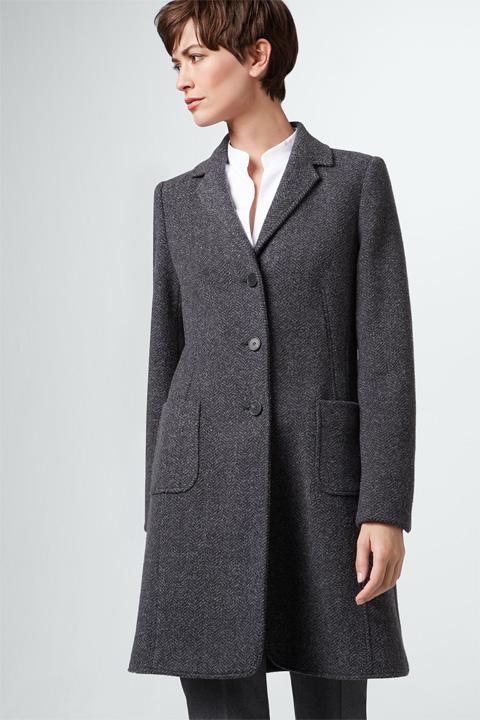Jersey-Mantel in Grau gemustert