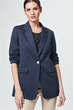 Long-Blazer in Blau