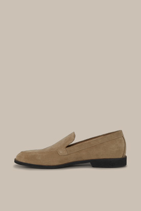 Loafer aus Rindsveloursleder by Ludwig Reiter in Greige