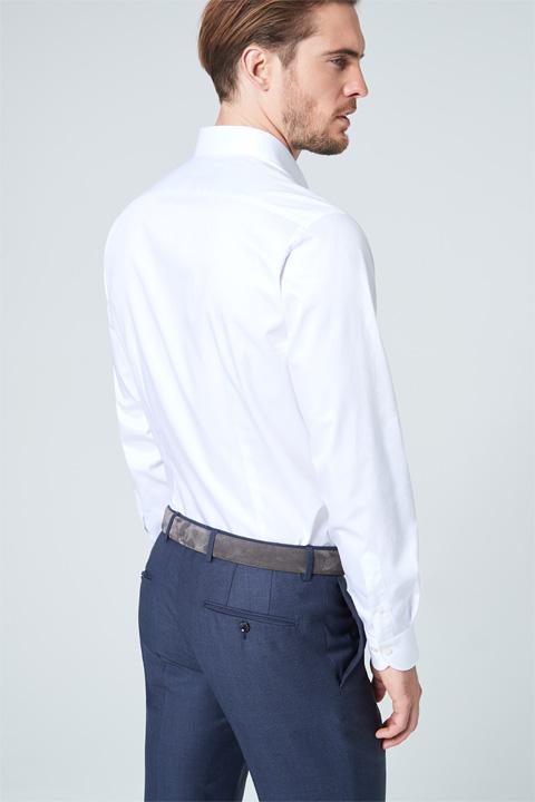 Twill-Hemd Rinaldo in Weiß