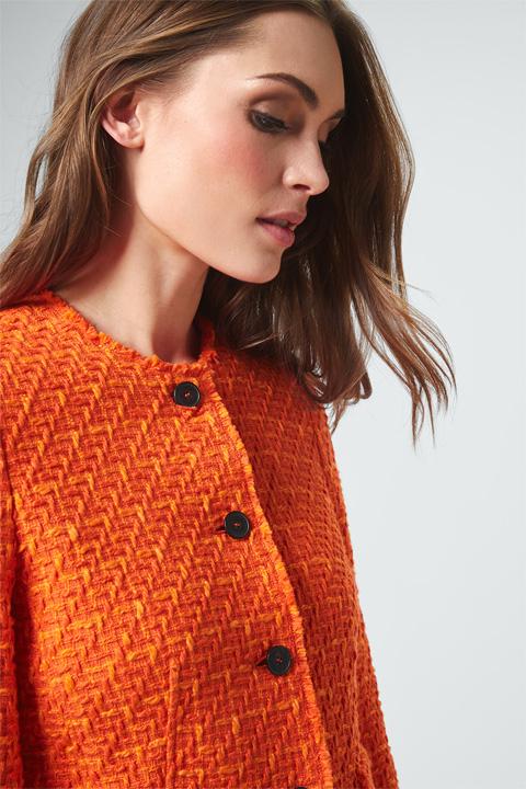 Bouclé-Blazer in Orange