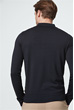 Langarm-Polo-Shirt Marcio in Navy