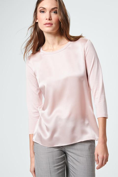 Blusen-Shirt in Rosé