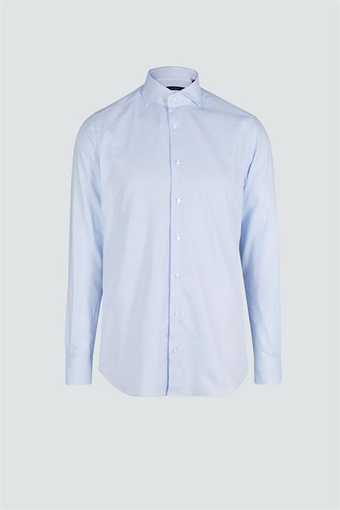 Baumwoll-Hemd Trivo Hellblau gemustert