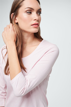Baumwoll-Shirt in Rosa
