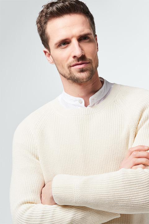 Pullover Gavino in Weiß-Creme