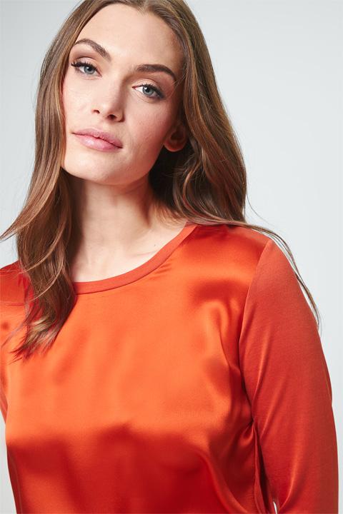Blusen-Shirt in Dark Orange