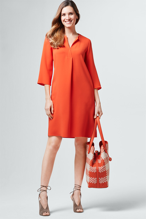 Shopper in Rosé-Orange-Creme