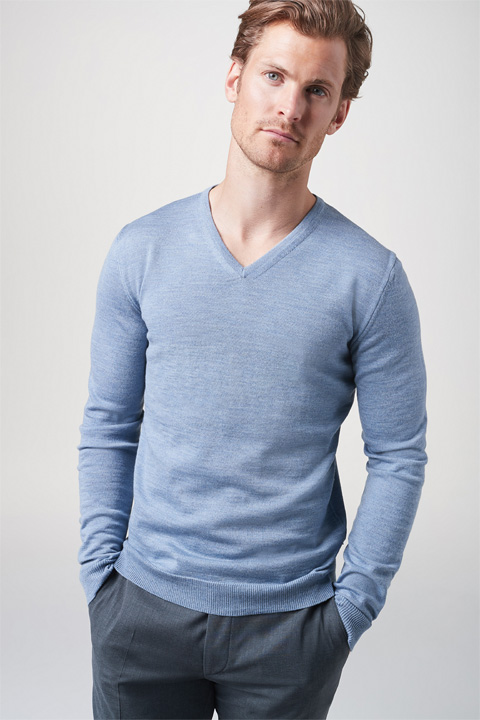 Pullover Marcello in Hellblau