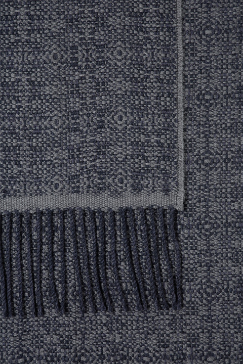 Schal Berol in Navy-Grau gemustert
