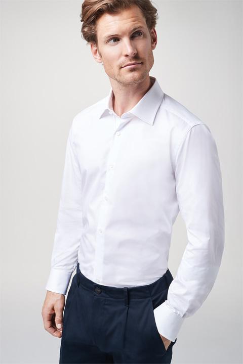 Hemd Torre mit extra langen Ärmeln  in Weiß