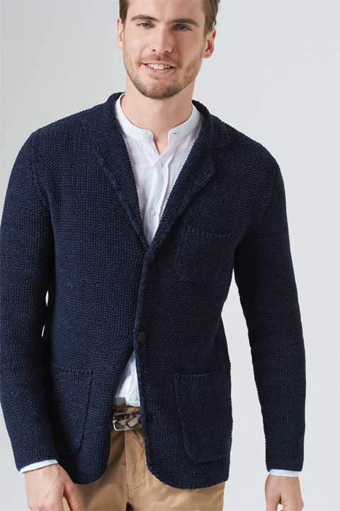 Cardigan Duno in Navy