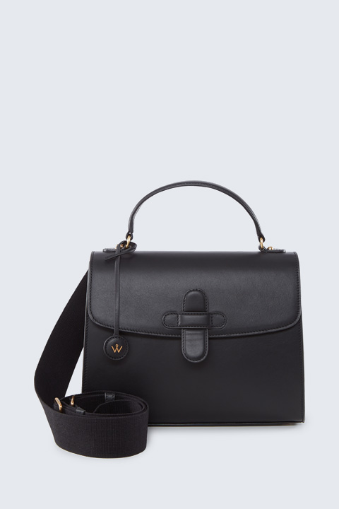 Satchel Bag in Schwarz
