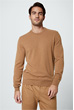 Cashmere-Rundhals-Pullover Cashmono in Camel