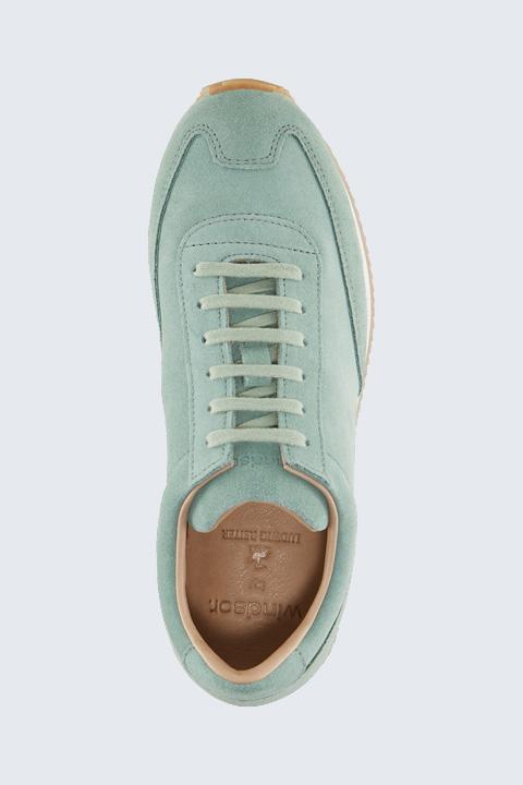 Sneaker aus Veloursleder by Ludwig Reiter in Mint