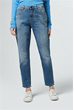 Girlfriend Jeans Gwen in Mittelblau