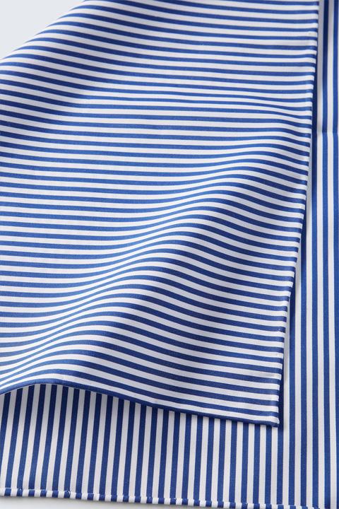 Einstecktuch in Blau-Weiß gestreift