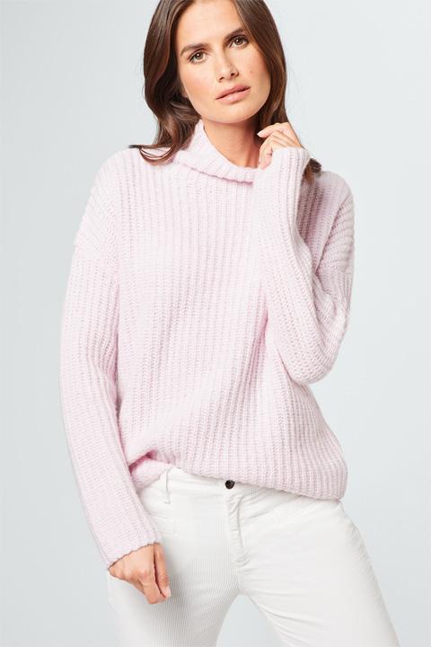 Pullover mit Kaschmir in Rosé