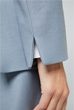 Smart Luxury Flanell Stretch-Longblazer in Eisblau