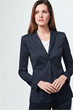 Popeline-Blazer in Navy