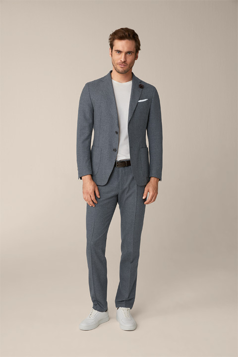 Jersey Flannel Travel Modular Suit in Grey