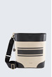 Bucket-Bag in Schwarz-Beige