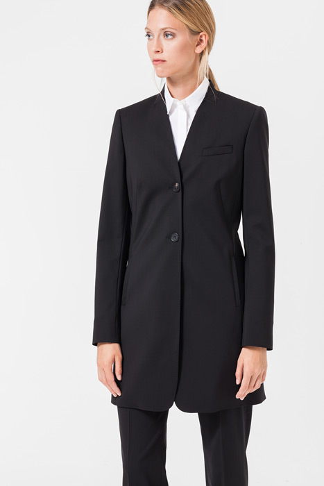 Long-Blazer in Schwarz