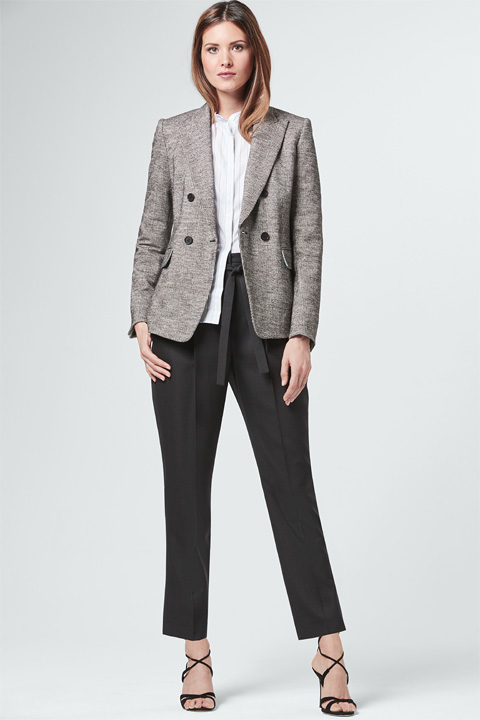 Glencheck-Blazer in Graphit