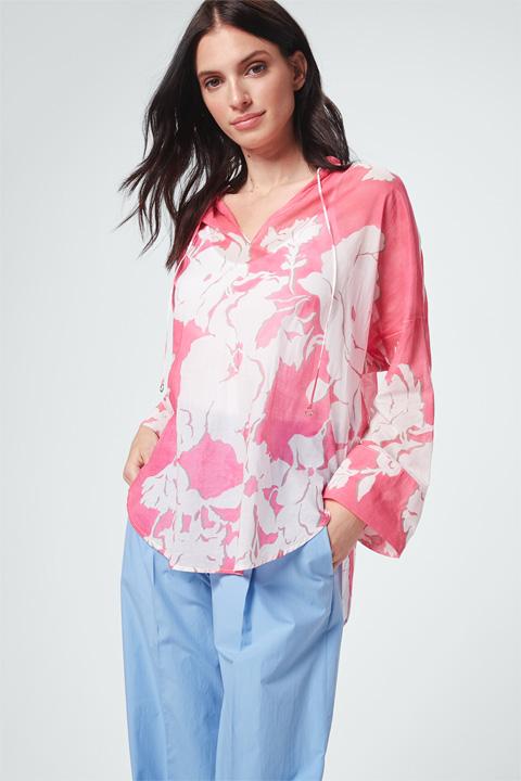 Gut: Oversize-Bluse Pink-Weiß Idee