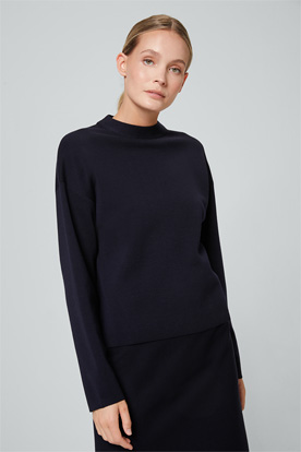 Full-Milano Pullover in Navy
