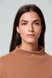 Cashmere-Pullover in Cognac